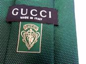 GUCCI MENS GREEN SILK TIE